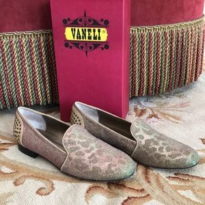 Vaneli Golden Metallic Loafers size 10M